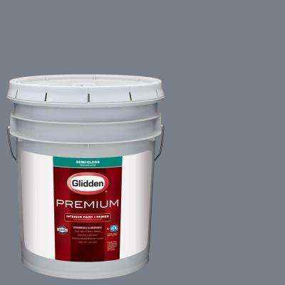 5 gal. #HDGCN47U Evening Shadow Semi-Gloss Interior Paint with Primer