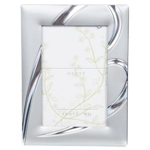 Pinnacle 2.5 inch x 3 inch Heart Silver Mini Place Card Picture Frame (12-Pack) by Pinnacle