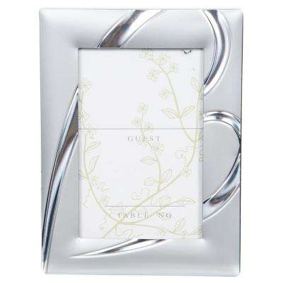 2.5 in. x 3 in. Heart Silver Mini Place Card Picture Frame (12-Pack)