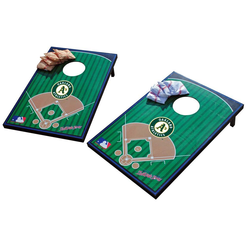 Wild Sports Oakland Athletics Tailgate Cornhole Toss
