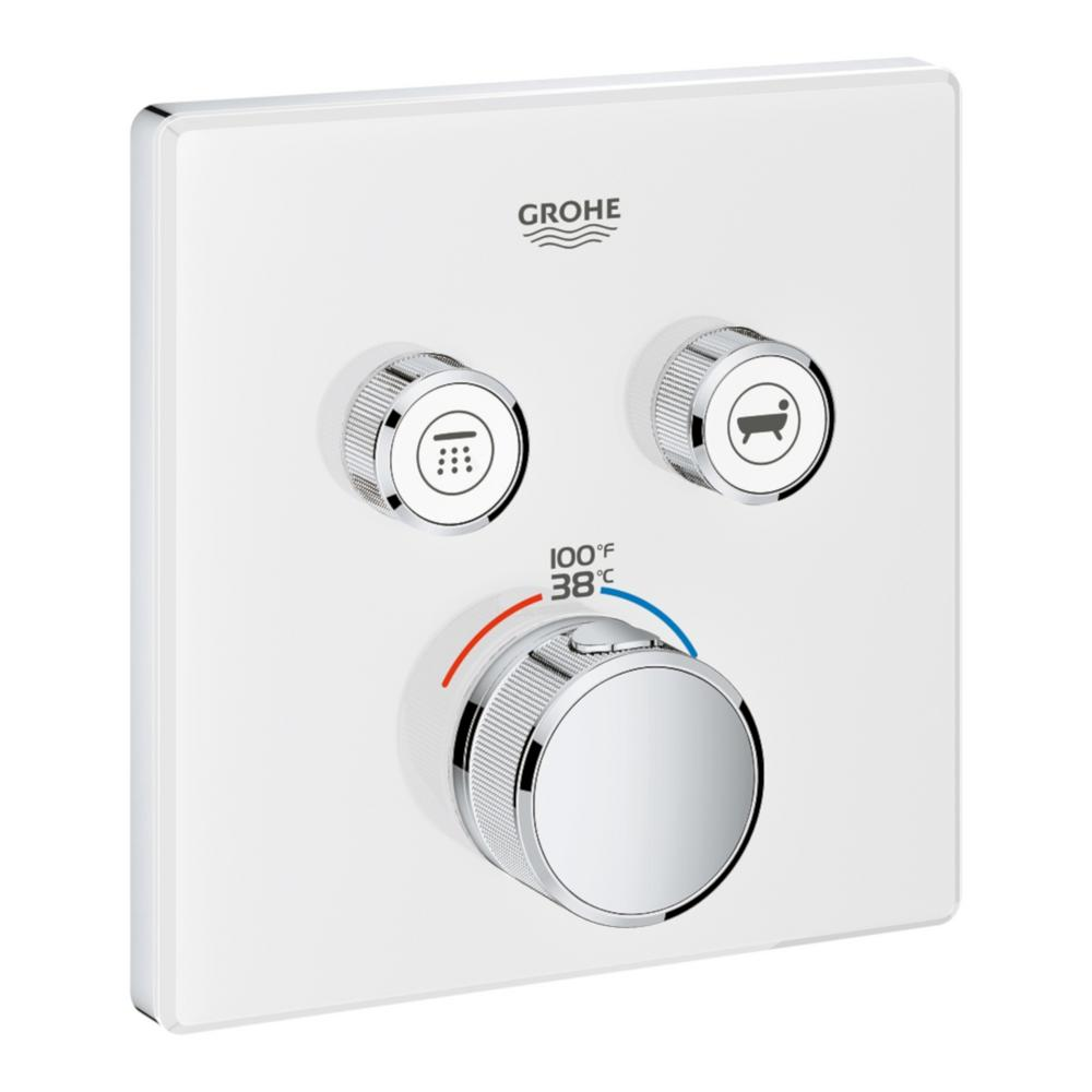 GROHE Grohtherm Smart Control Dual Function Square Thermostatic Trim with Control Module