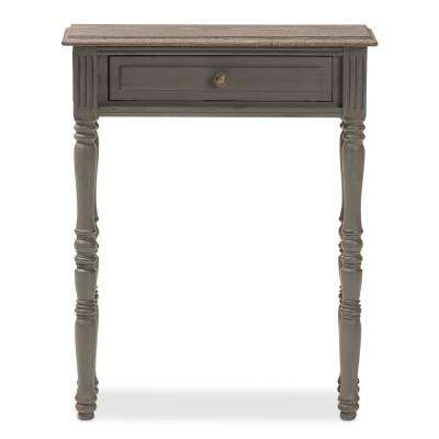 Noemie Brown 1-Drawer Console Table