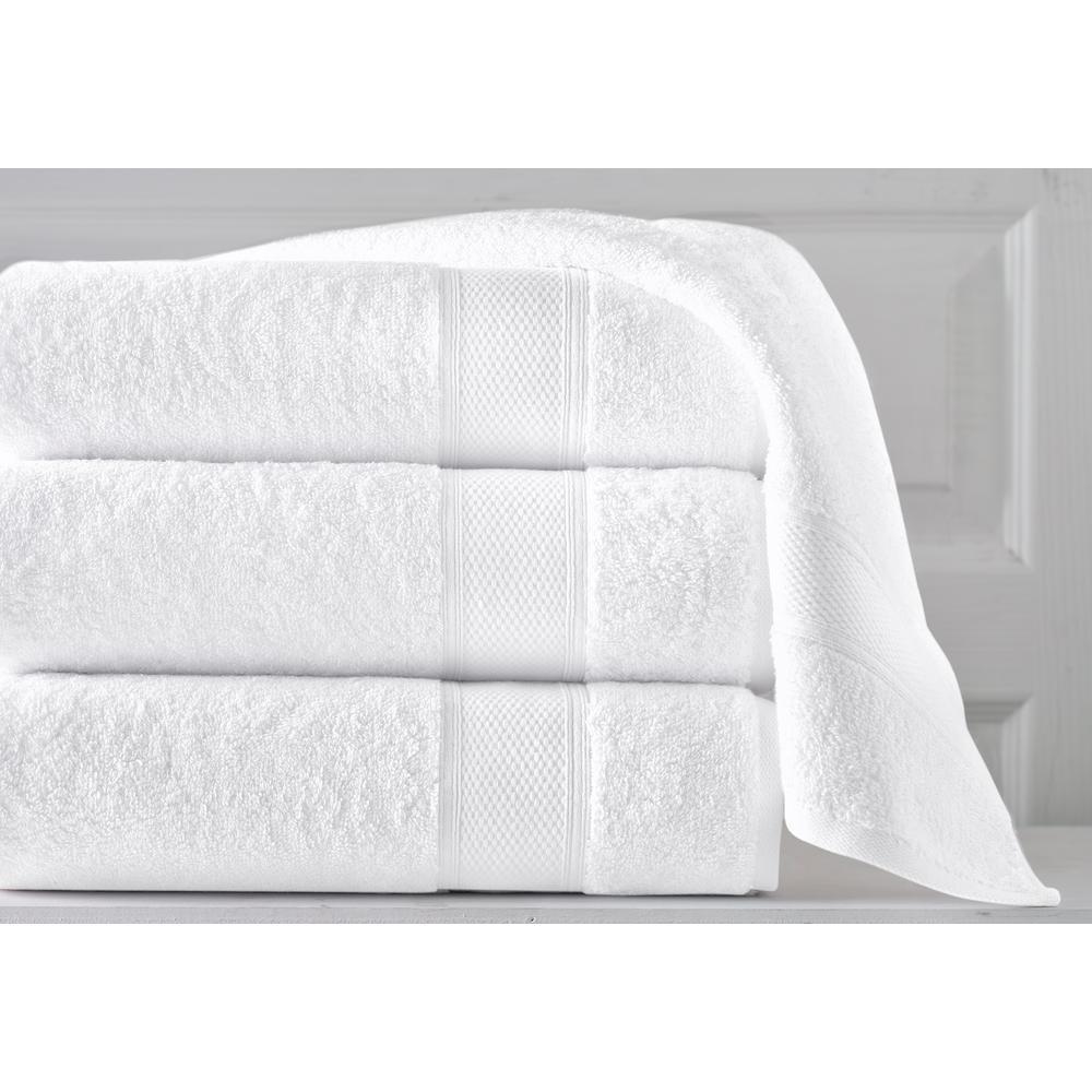 36 in. x 72 in. Pinehurst Turkish 100% Organic Cotton Bath Sheet in White