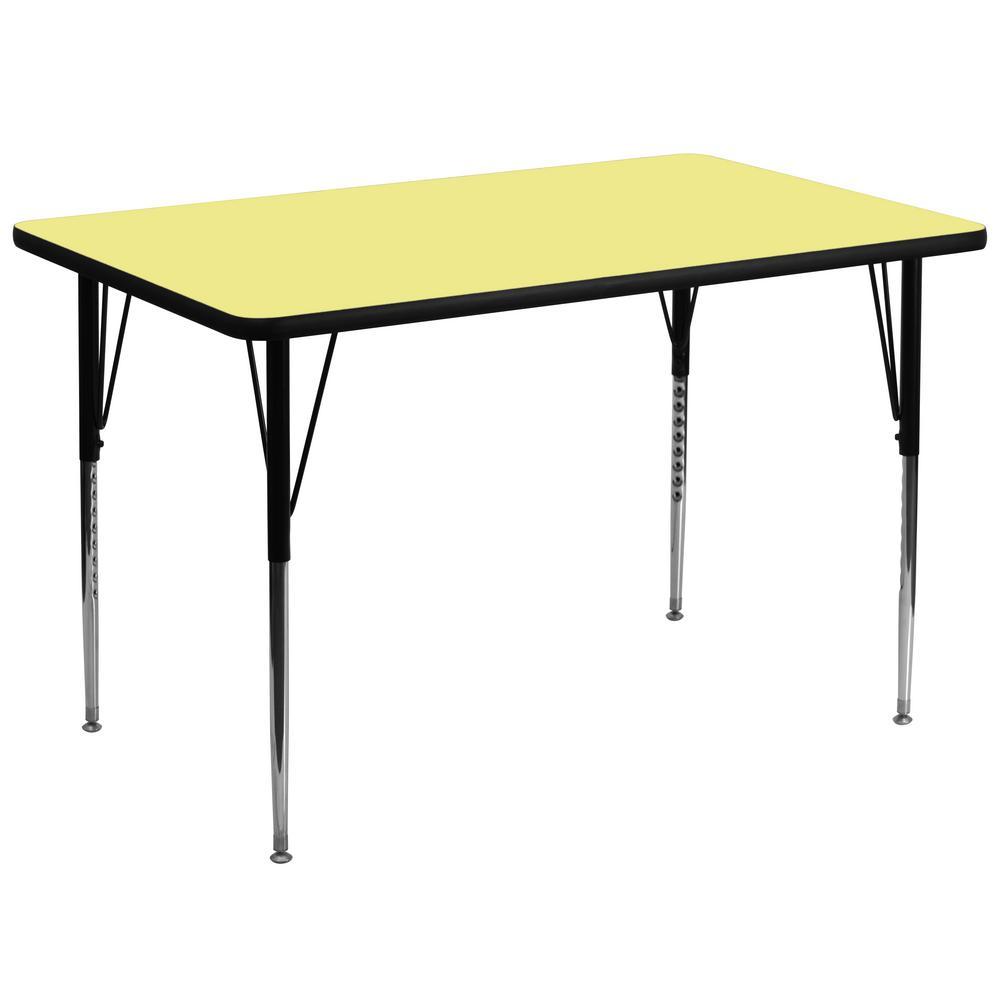Yellow Kids Table