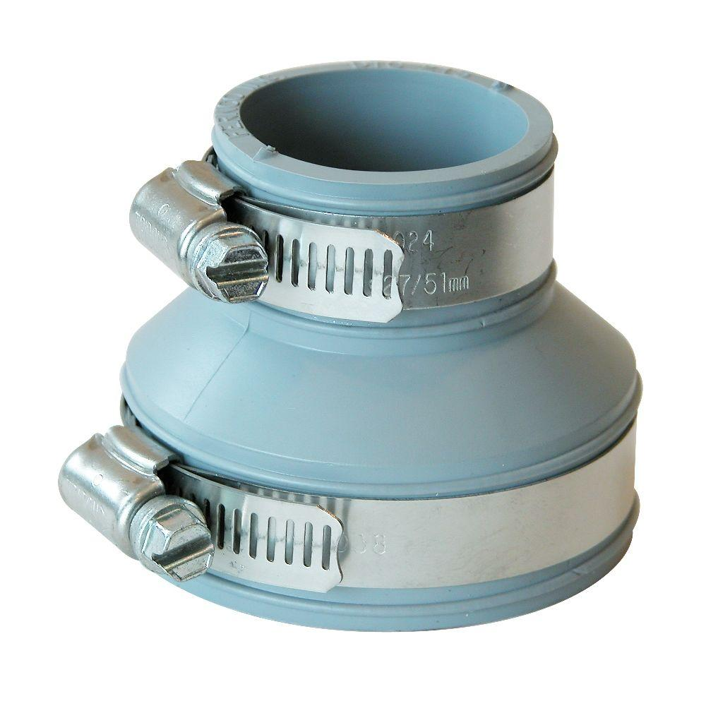 2 in. x 1-1/2 in. PVC Mechanical x Mechanical Tubular Drain