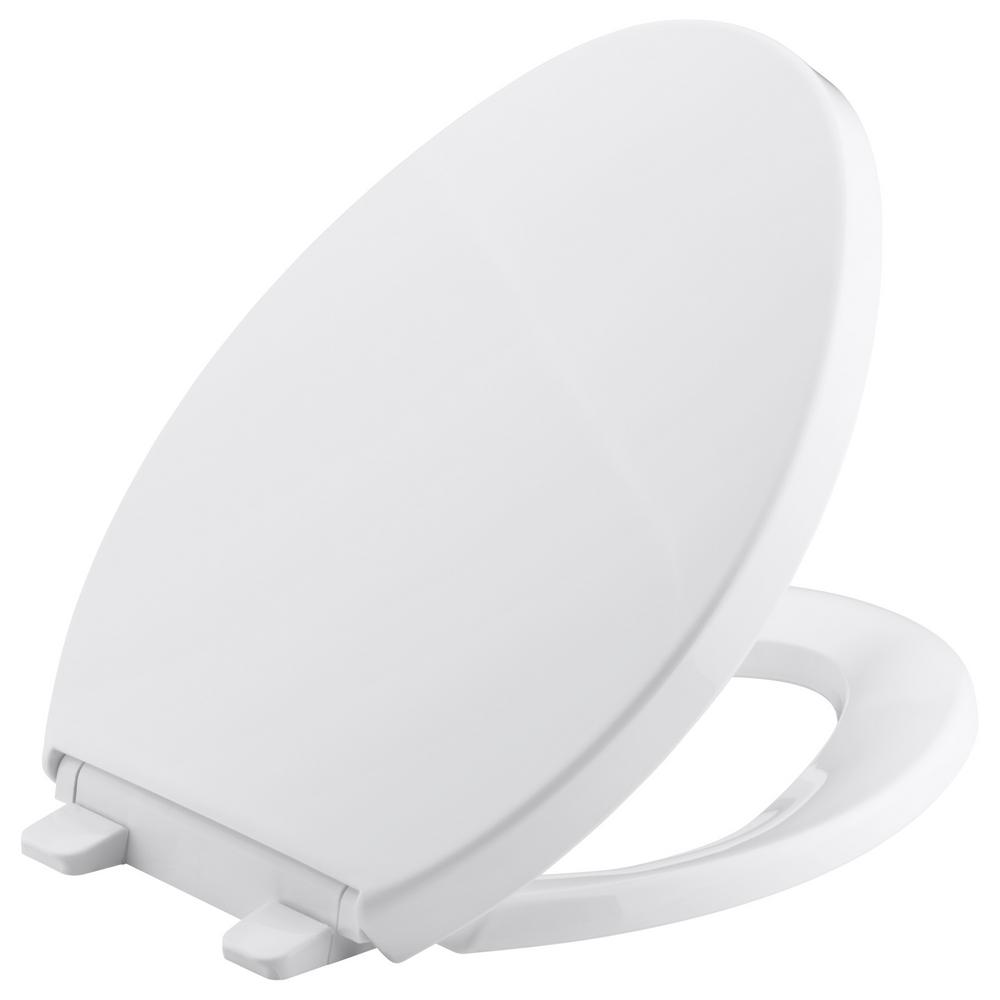 Saile Elongated Closed Front Toilet Seat in White
