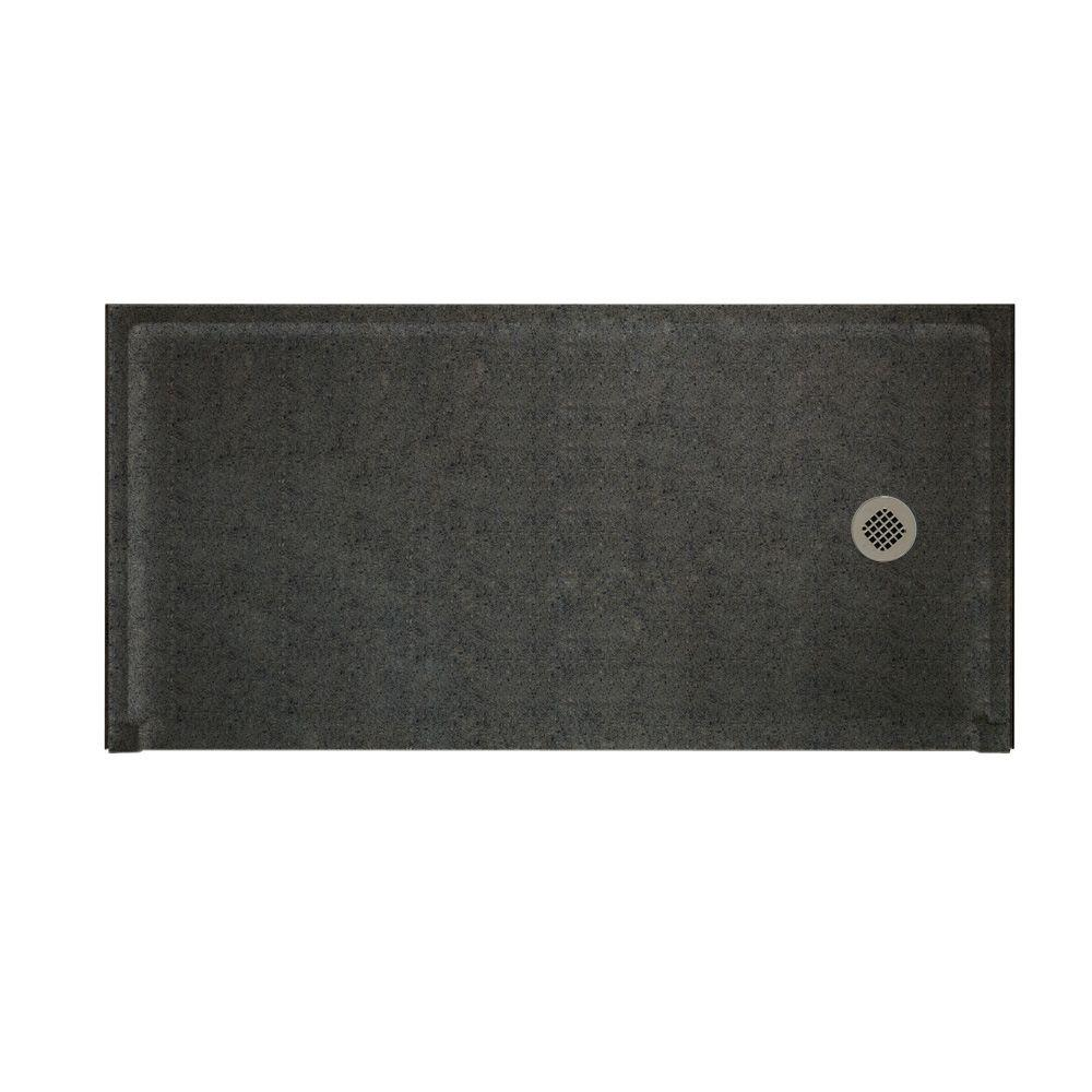 Swanstone Barrier Free 30 in. x 60 in. Single Threshold Shower Floor in Indian Grass-DISCONTINUED