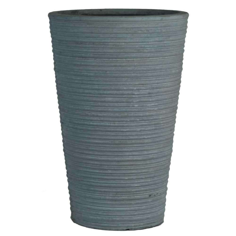 tall vase lighting garden. Pride Garden Products Origins Canna 16 In. Light Gray Fiberclay Tall Round Planter Vase Lighting A