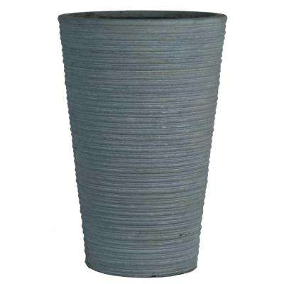 Origins Canna 16 in. Light Gray Fiberclay Tall Round Planter