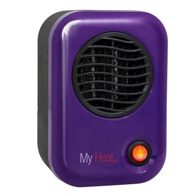 MyHeat 200-Watt Electric Portable Personal Space Heater, Purple