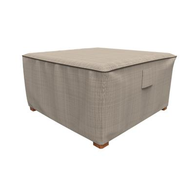 Rust-Oleum NeverWet Mojave Extra-Large Black Ivory Square Patio Table/Ottoman Cover