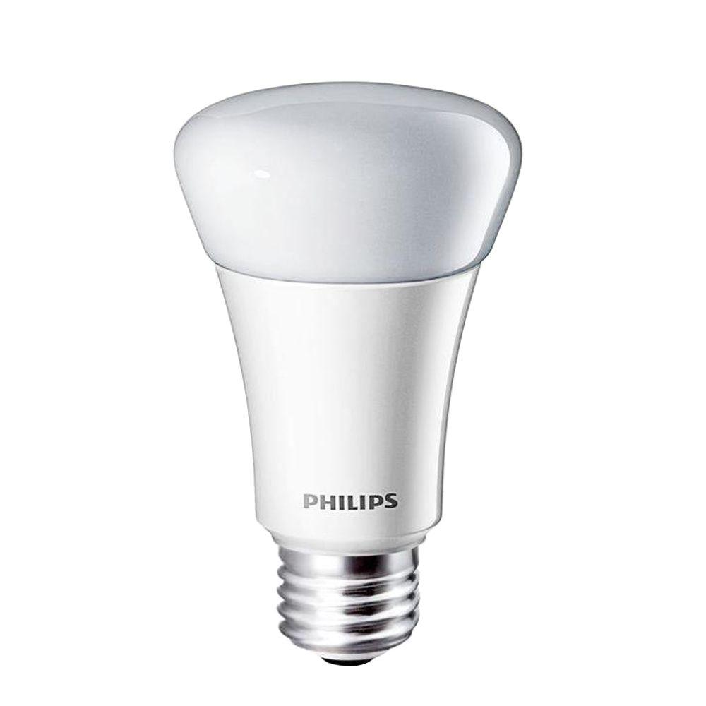 Philips 40W Equivalent Daylight (5000K) A19 Dimmable LED Light Bulb (E*)(2-Pack)