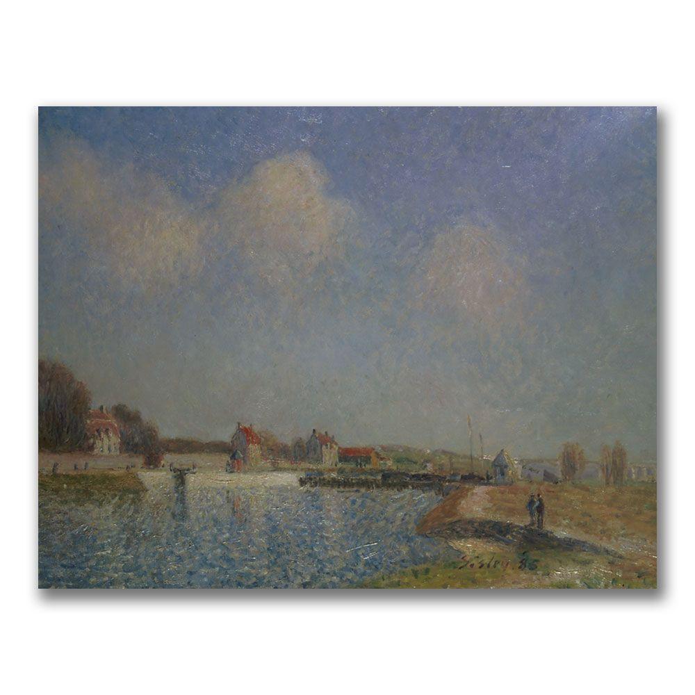 "26 in. x 32 in. ""A Farmyard in Normandy, 1863"" Canvas"