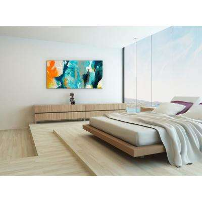 "24 in. x 48 in. ""Tidal Abstract 2"" Frameless Free Floating Tempered Glass Panel Graphic Art"