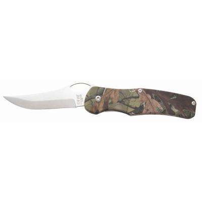 4-3/8 in. Stainless Steel Sideliner Knife with Camouflage Aluminum Handle and Pocket Clip