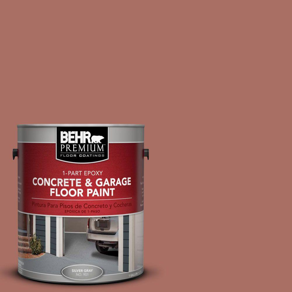 BEHR Premium 1 gal. #PFC-08 Terra Brick 1-Part Epoxy Concrete and Garage Floor Paint