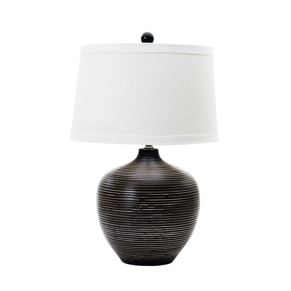 Fangio Lighting 22 5 In Indigenous Brown Ceramic Table Lamp 8748ind