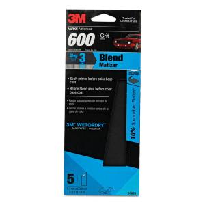 3M Wetordry 3-2/3 inch x 9 inch 600 Grit Sandpaper (5-Pack) by 3M