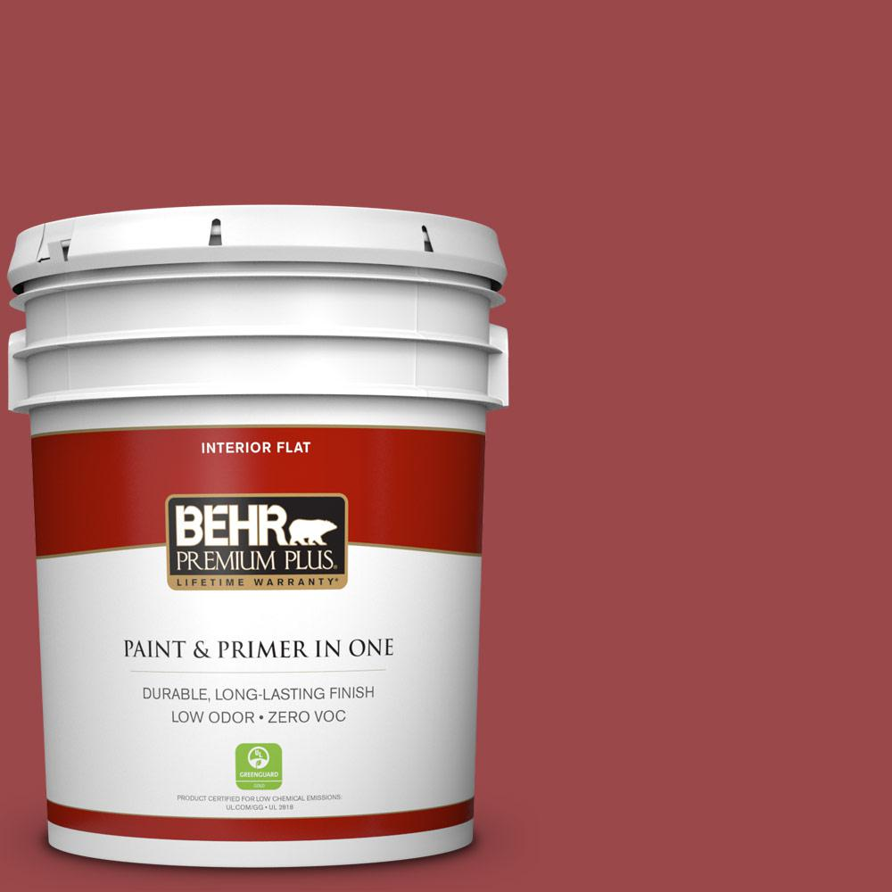 5 gal. #ECC-10-3 Holly Berry Zero VOC Flat Interior Paint