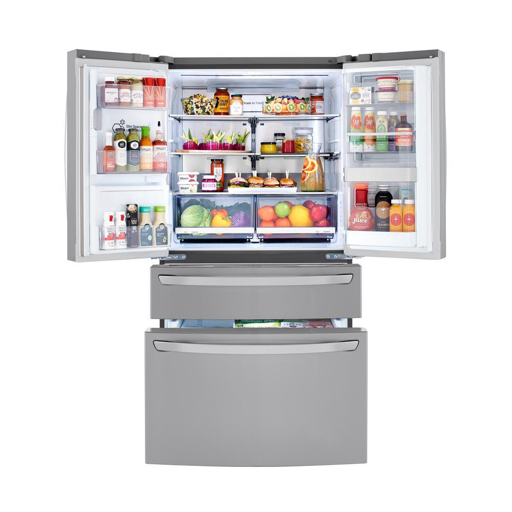 29.5 cu.ft. Smart French 4-Door, Door-In-Door Full Convert with Craft Ice Refrigerator in PrintProof Stainless Steel
