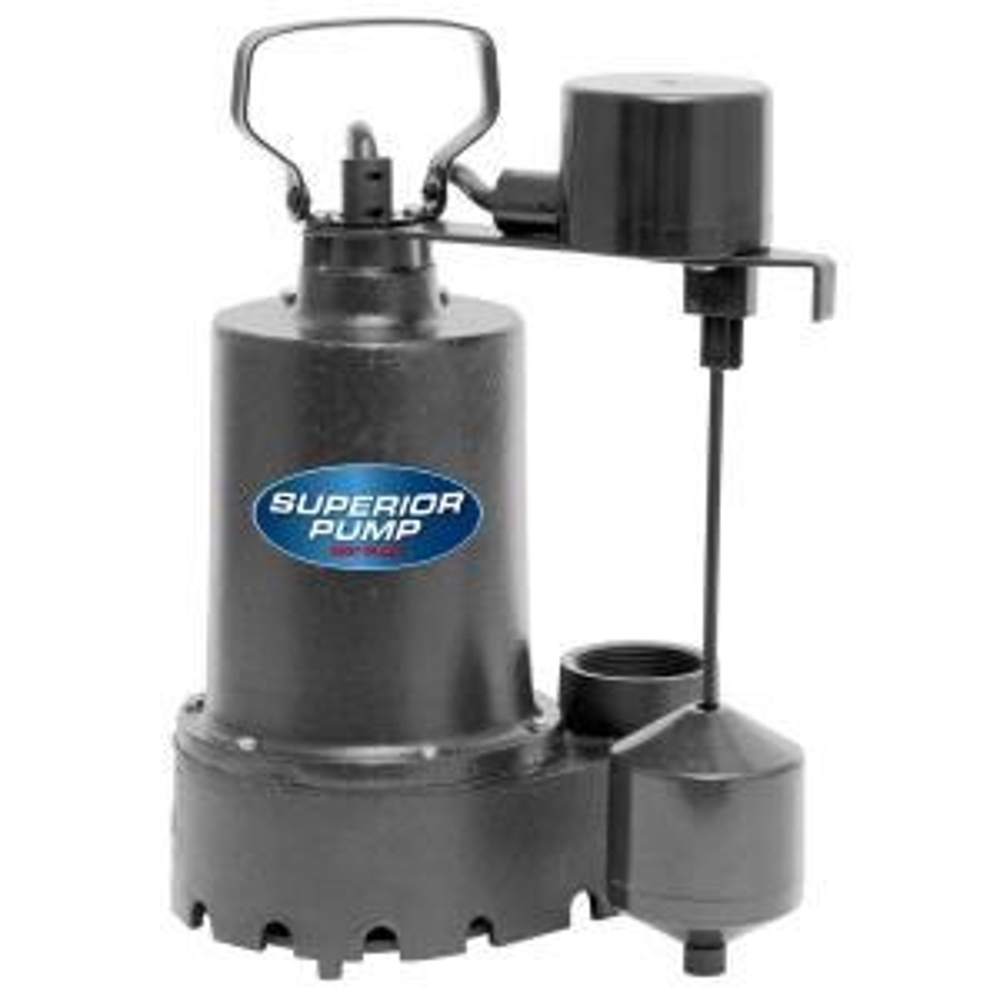 Superior Pump 1/3 HP Submersible Cast Iron Sump Pump by Superior Pump