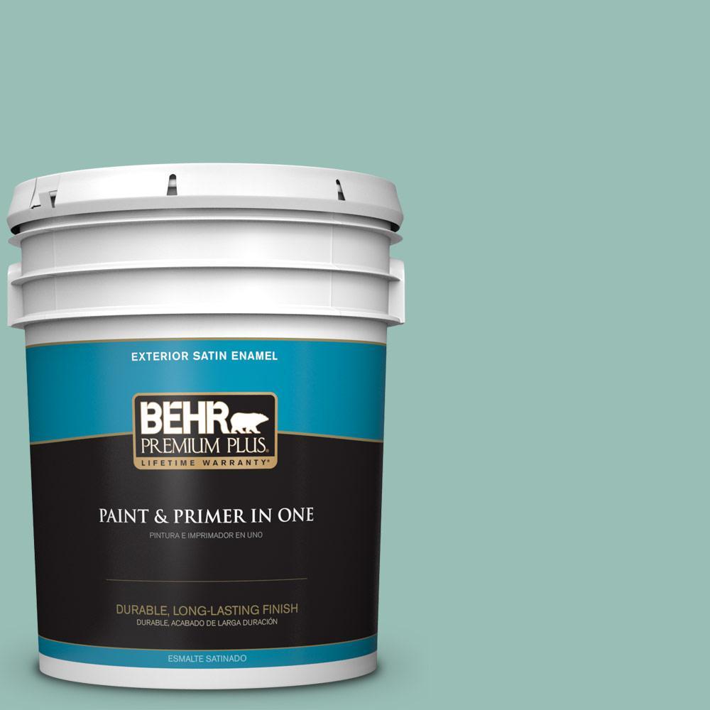 5 gal. #PPU12-07 Spring Stream Satin Enamel Exterior Paint