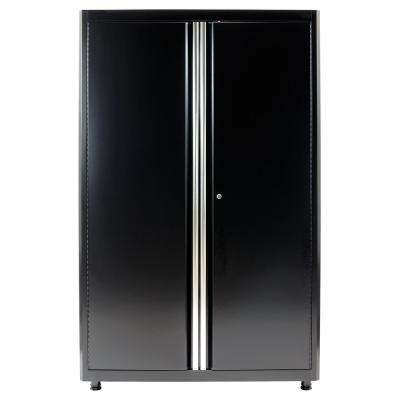 72 in. H x 46 in. W x 24 in. D Welded Steel Floor Freestanding Cabinet in Black