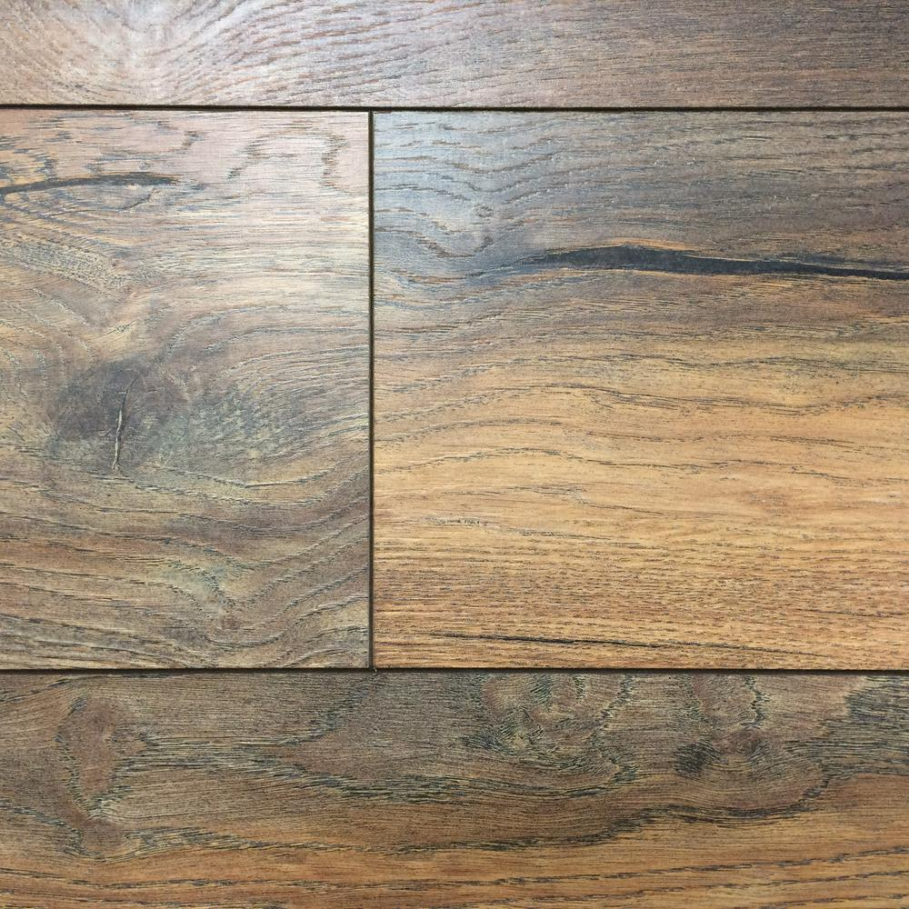 Trafficmaster Grey Oak 7 Mm Thick X 8 03 In Wide X 47 64 In Length Laminate Flooring