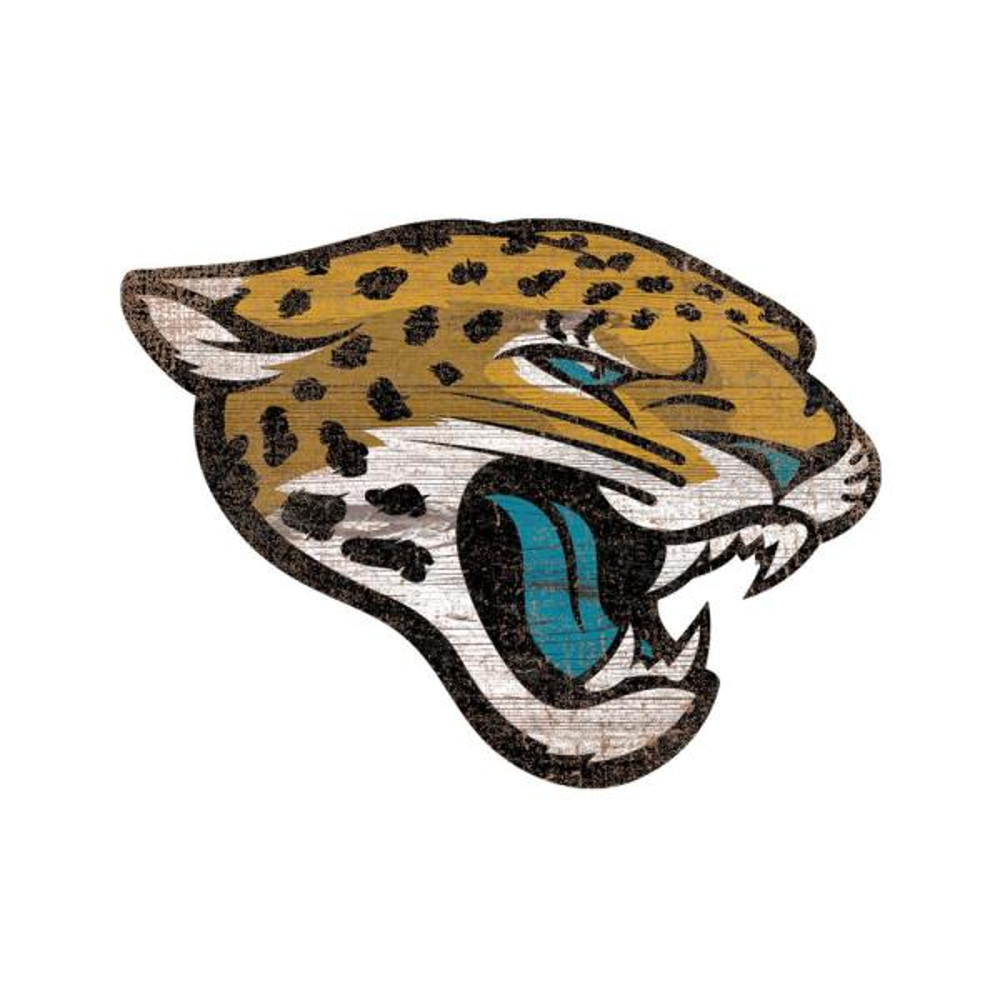 a1a2b4dd NFL Indoor Jacksonville Jaguars Distressed Logo Cutout Wood Sign