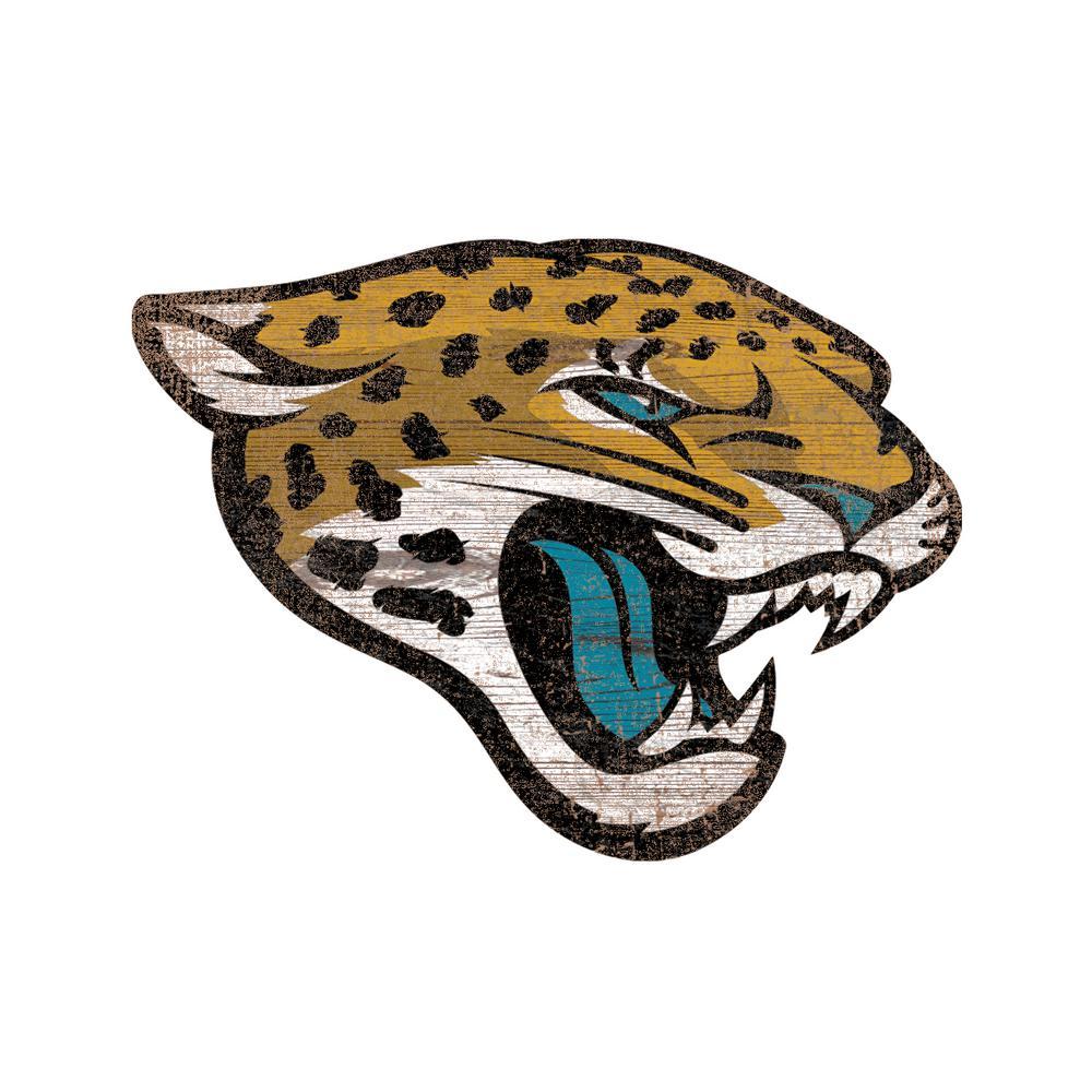 Nfl Indoor Jacksonville Jaguars Distressed Logo Cutout