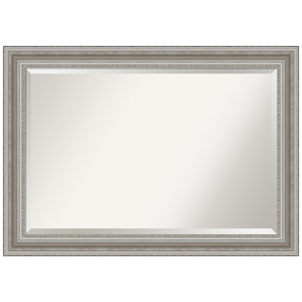 41.5 in. x 29.5 in. Parlor Silver Bathroom Vanity Mirror