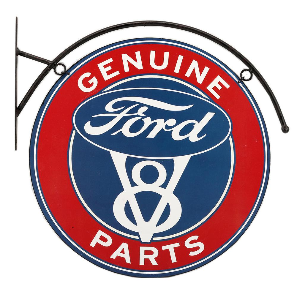 Ford genuine ford parts flanged tin hanging decorative sign