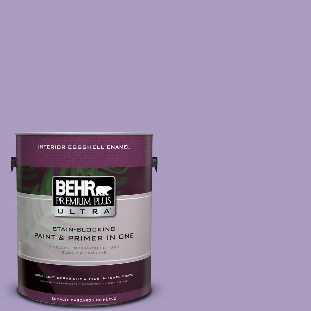 BEHR Premium Plus Ultra 1-gal. #M560-4 Evening Slipper Eggshell Enamel Interior Paint