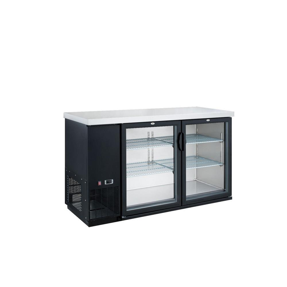 Dukers 49.25 W 84-Bottle 11.2 cu. ft. 2-Door Bar and Beverage Cooler