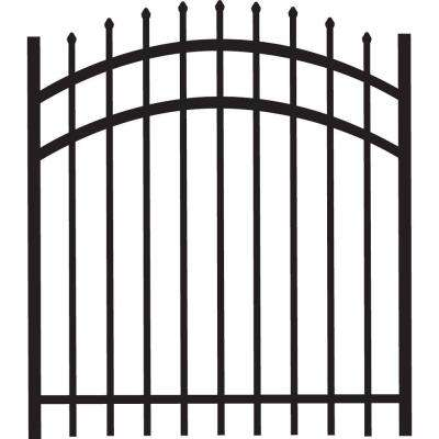 Cascade 4 ft. W x 4 ft. H Black Heavy-Duty Aluminum Arched Pre-Assembled Fence Gate
