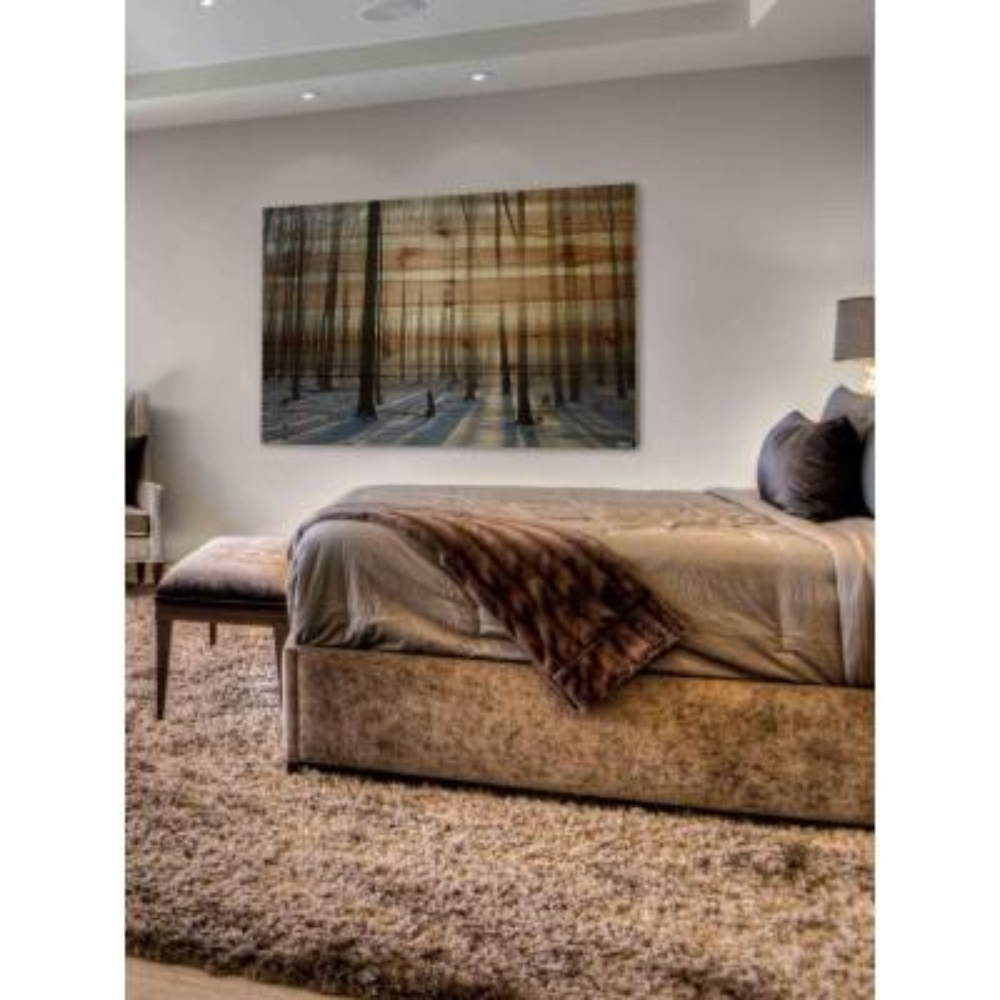 "40 in. H x 60 in. W ""Papineau"" by Parvez Taj Printed Natural Pine Wood Wall Art"