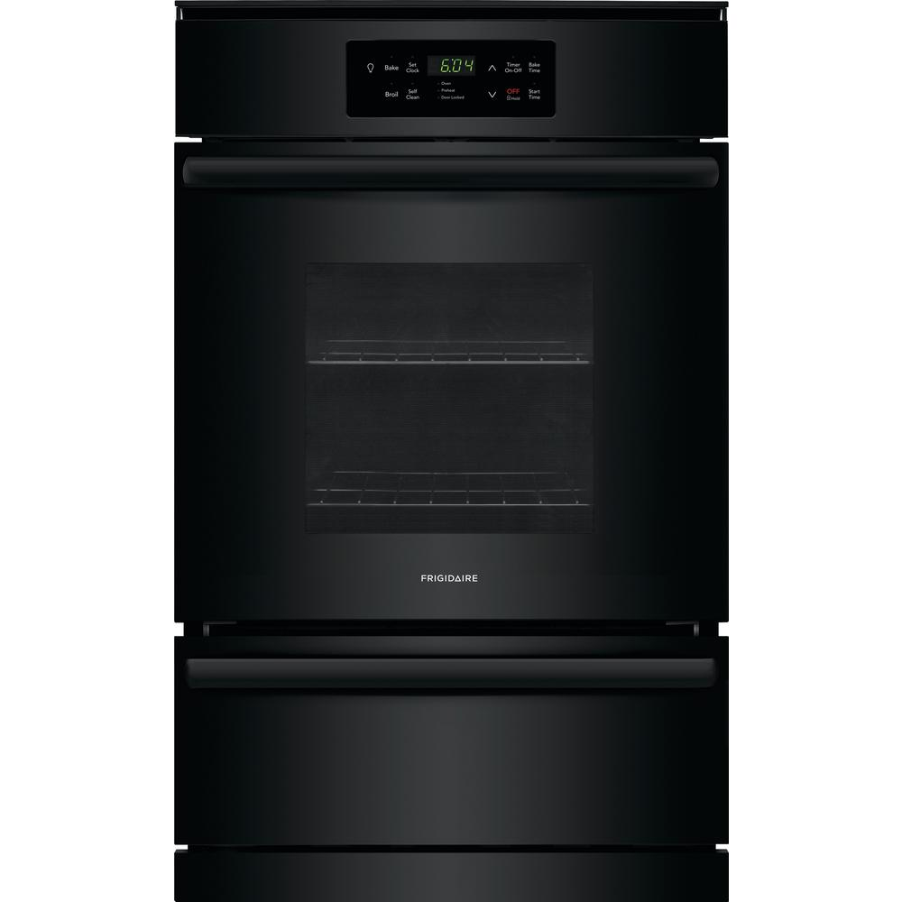 Frigidaire 24 In Single Gas Wall Oven In Black Ffgw2426ub The Home Depot