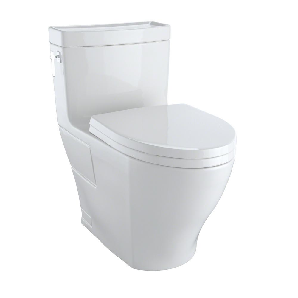 toto aimes 1 piece gpf single flush elongated skirted toilet with cefiontect in colonial. Black Bedroom Furniture Sets. Home Design Ideas