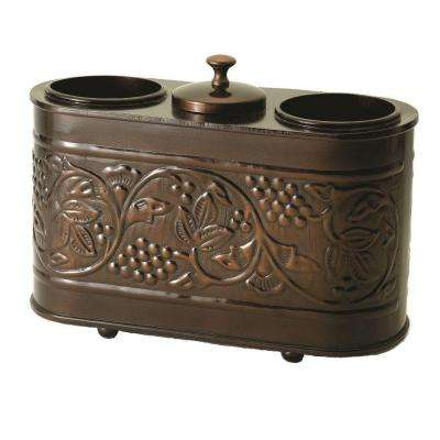 12.75 in. x 5.5 in. x 9.25 in. Antique Embossed Heritage 2-Bottle Wine Chiller