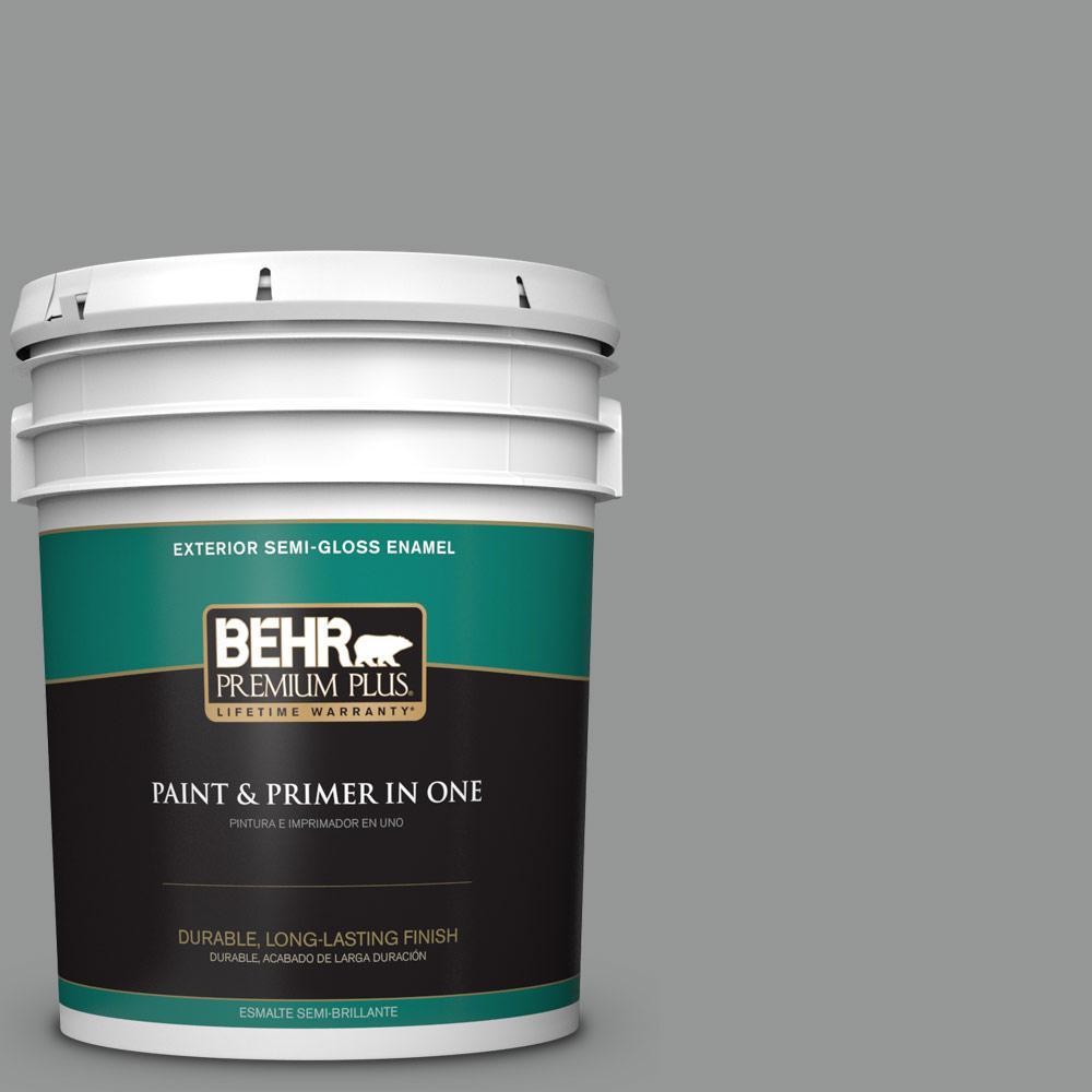 5 gal. #PPU24-19 Shark Fin Semi-Gloss Enamel Exterior Paint