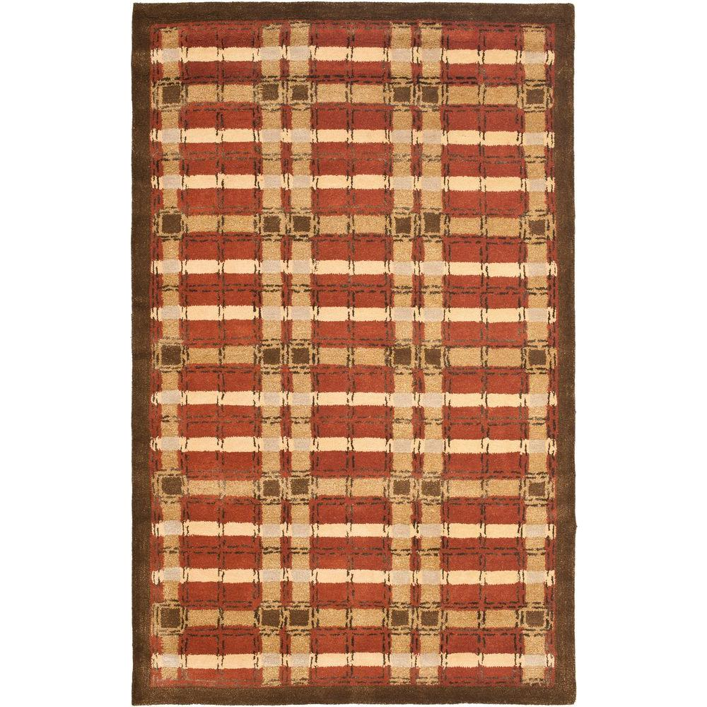 Plaid Rug: Safavieh Martha Stewart Colorweave Plaid October Leaf Red