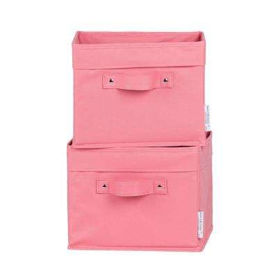 11 in. x 9 in. Storit Small Pink Polyester Basket (2-Pack)
