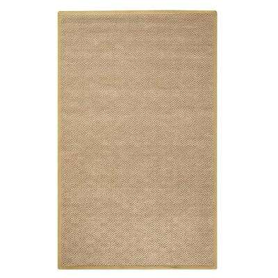 Diamond Jute Dark Natural 6 ft. x 9 ft. Area Rug