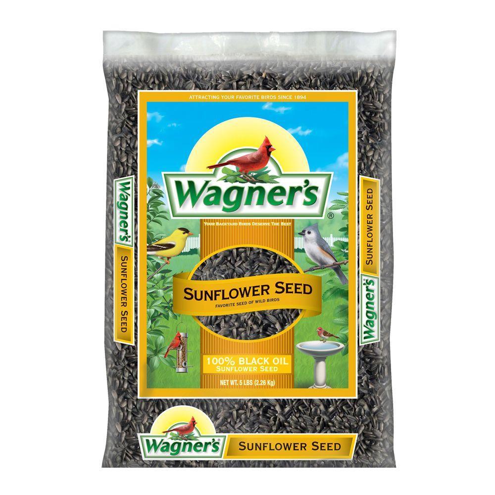 Wagner's 5 lb. Black Oil Sunflower Seed Wild Bird Food
