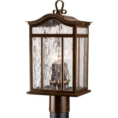 Meadowlark Collection 3-Light Oil-Rubbed Bronze Outdoor Post Lantern
