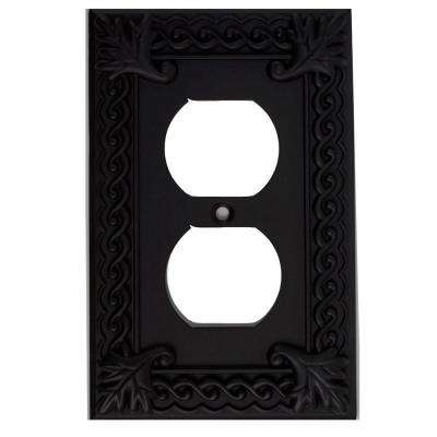 Venetian Collection 1 Duplex Outlet Wall Plate - Aged Bronze