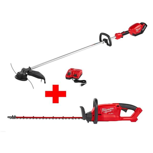 M18 FUEL 18-Volt Lithium-Ion Brushless Cordless String Trimmer 9.0Ah Kit with Hedge Trimmer (Bare Tool)