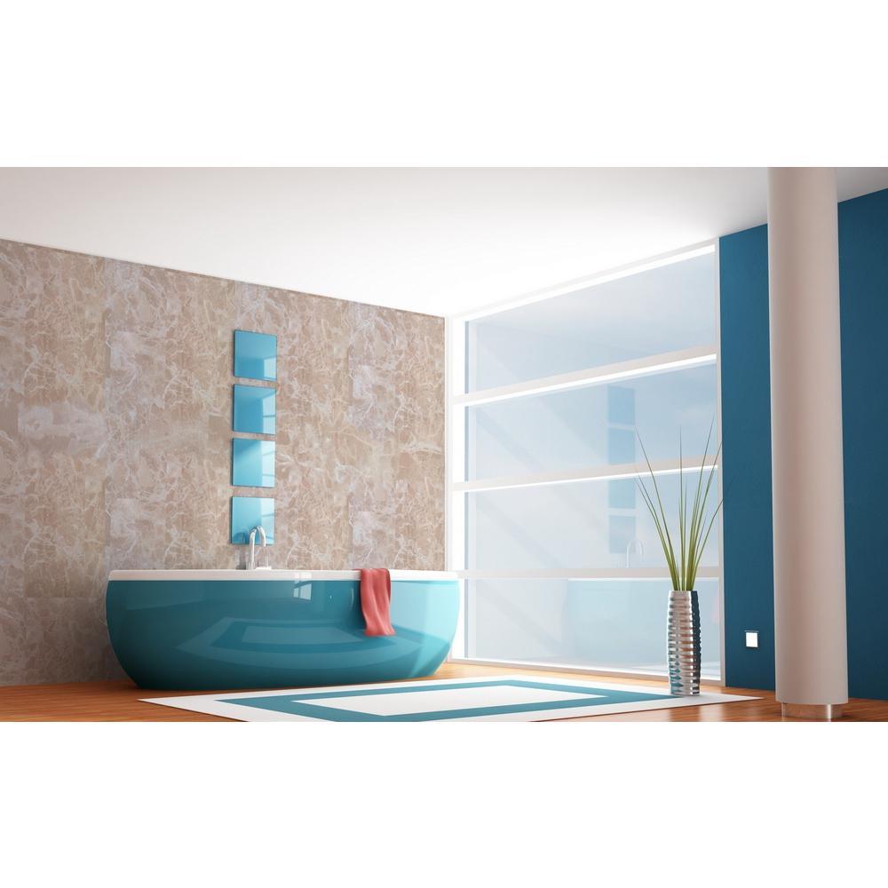 Venetian Beige Marble Peel and Stick 3D-Effect Self Adhesive DIY Wallpaper