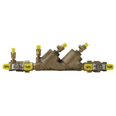 3/4 in. Bronze FIP Double Check Backflow Preventer with Union Shut-Off Valves