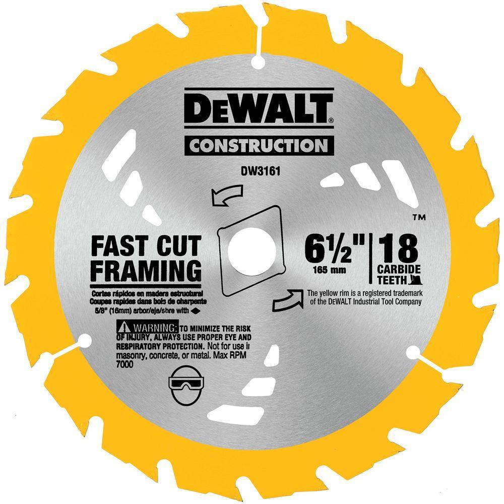 Dewalt Construction 6 1 2 In 18 Teeth Thin Kerf Saw Blade